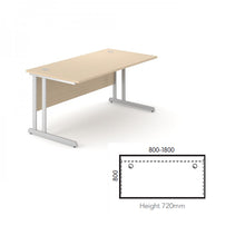 Load image into Gallery viewer, Alpine Straight Cantilever Desk