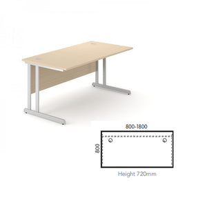 Alpine Straight Cantilever Desk