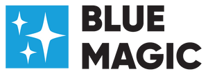 Blue Magic Logo - Aqua square with Stars