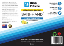 Load image into Gallery viewer, SANI-HAND Hand Sanitiser Liquid (5 LITRES)
