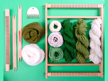 Load image into Gallery viewer, Forest Weaving Kit with Medium Loom