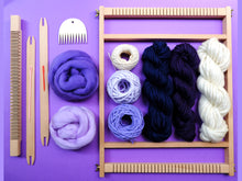 Load image into Gallery viewer, Purple Weaving Kit with Medium Loom