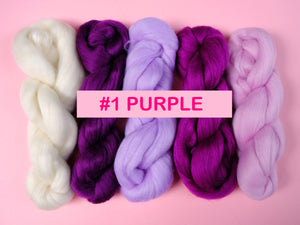 Fibre Packs - Australian Merino Wool Top Roving 19 Microns