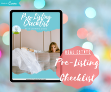 Load image into Gallery viewer, Real Estate Lead Magnet | Pre-Listing Checklist | Customizable Canva Template - Best Real Estate Store