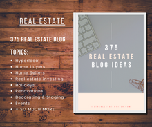 Load image into Gallery viewer, 375 Real Estate Blog Ideas - Best Real Estate Store