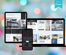 Load image into Gallery viewer, 11 Page Real Estate Flyer Template Bundle | Customizable on Canva - Best Real Estate Store