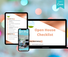 Load image into Gallery viewer, Real Estate Lead Magnet |  Open House Marketing & Preparation Checklist | Customizable on Canva - Best Real Estate Store
