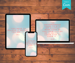 Inspirational Quote Social Media Bundle For Real Estate | Customizable Canva Templates - Best Real Estate Store