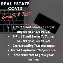 Load image into Gallery viewer, Real Estate Email & Text COVID Series - Over 3K in Savings! - Best Real Estate Store