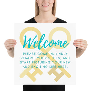 Open House Welcome Poster| Sign - Best Real Estate Store