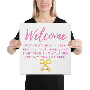 Open House Welcome Canvas - Best Real Estate Store