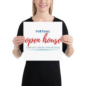 Virtual Open House Sign | Real Estate Signs & Posters - Best Real Estate Store