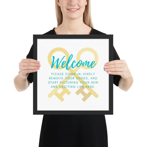 Open House Listing Welcome Framed poster - Best Real Estate Store