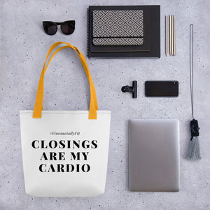 Real Estate Tote bag | Closings Are My Cardio - Best Real Estate Store