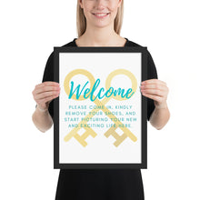 Load image into Gallery viewer, Open House Listing Welcome Framed poster - Best Real Estate Store