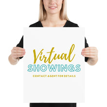 Load image into Gallery viewer, Open House Sign | Virtual Showings Available - Best Real Estate Store