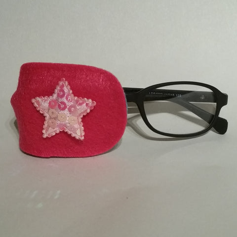 Pink Star Eye Patch