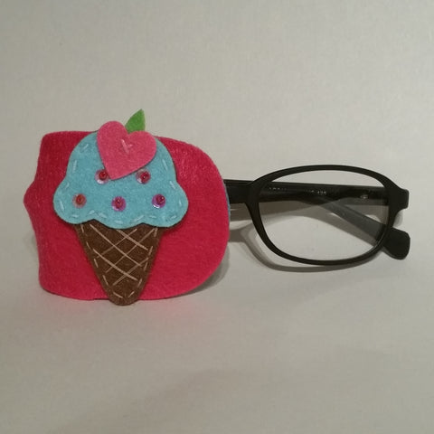 Fun Blue Ice Cream Eye Patch