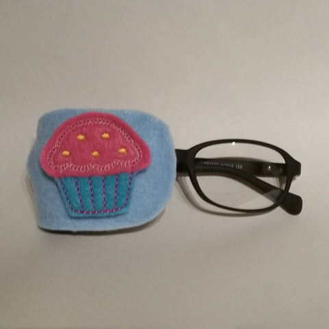 Cupcake Pink Blue Eye Patch