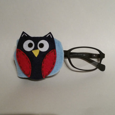 Blue Fun Owl Eye Patch
