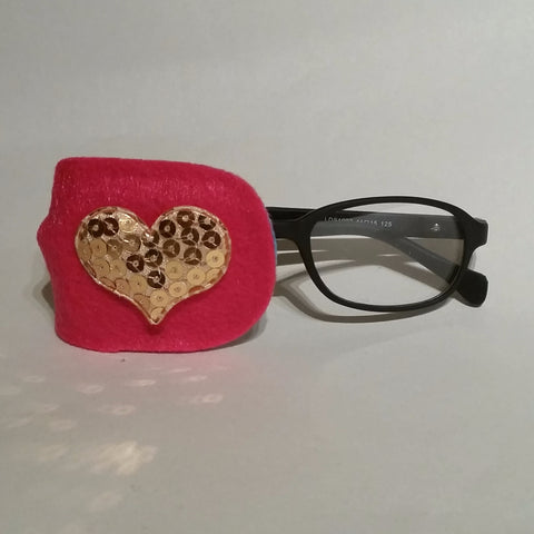 Gold Heart Eye Patch