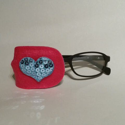 Blue Heart Eye Patch