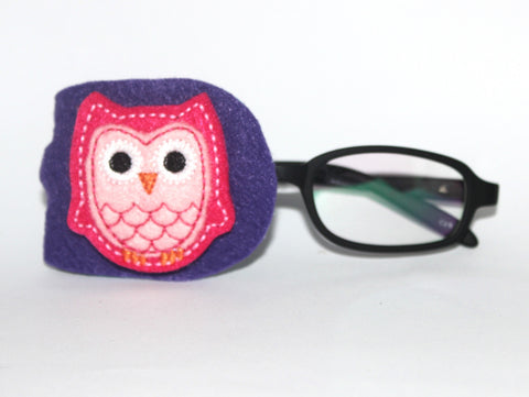Pink Owl Eye Patch
