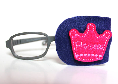Pink Princess Tiara Eye Patch