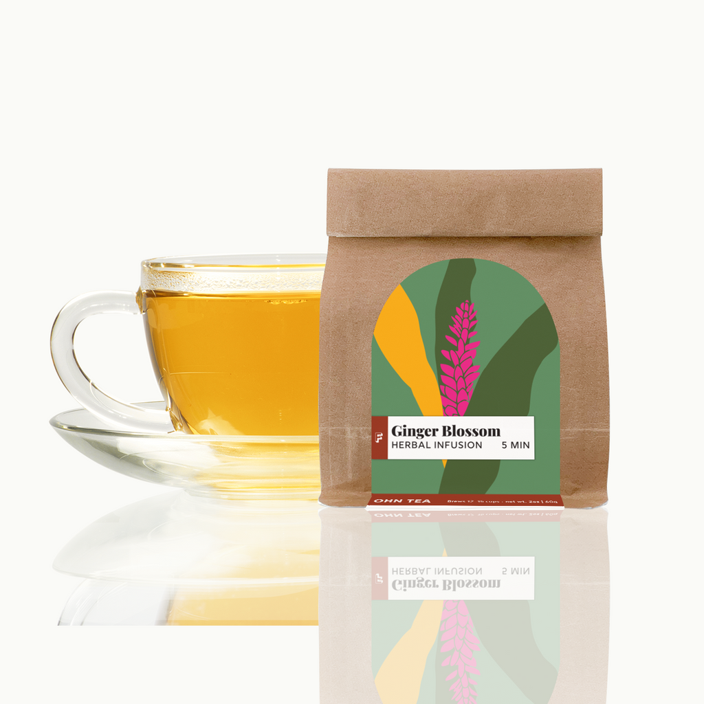 Ginger Blossom herbal infusion contains loads of dried herbs and fruits
