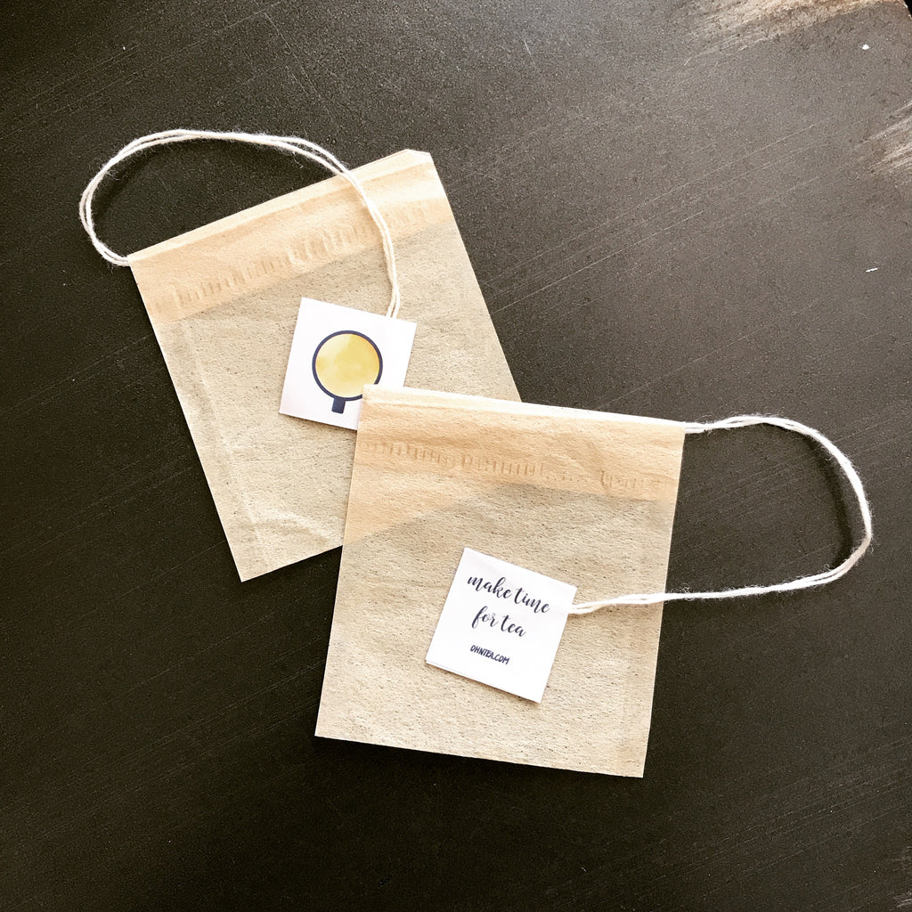 Our bags are made of biodegradable unbleached filter paper, natural cotton string