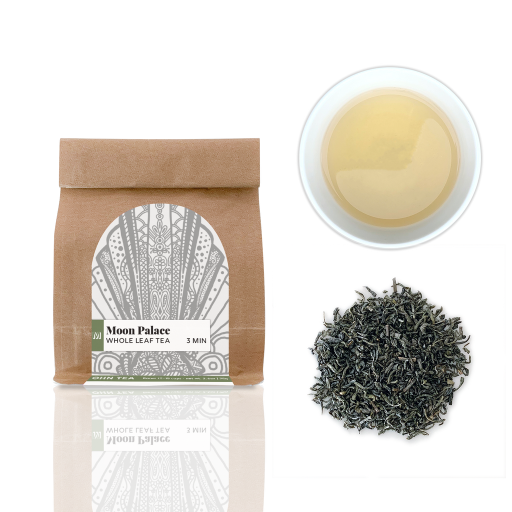 Moon Palace is a Chun See Tea that is light green tea that has a faint floral aftertaste