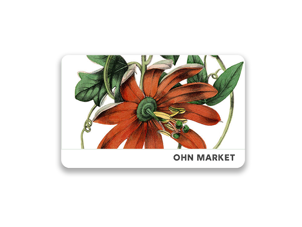 Ohn Market Vintage red flower design $29 gift card