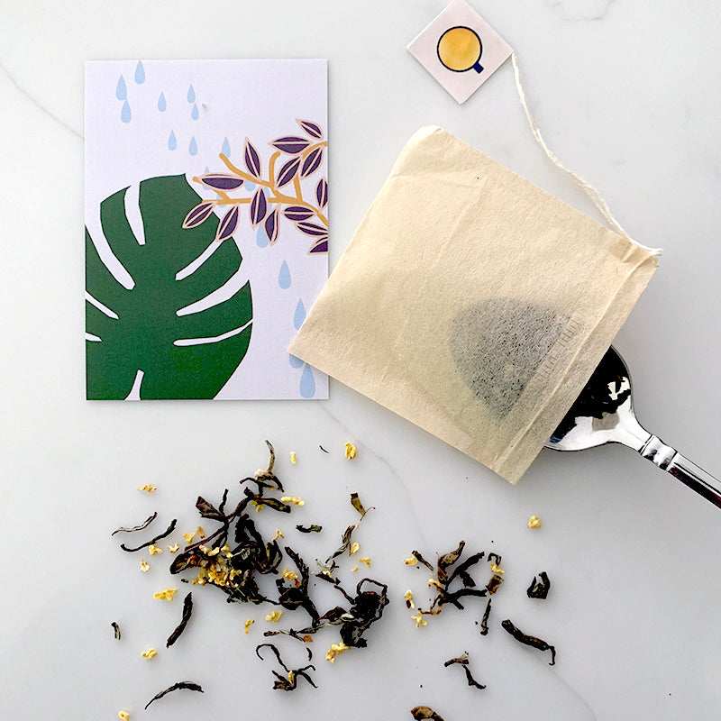 Ohn Market Tea bags are made to fit loose whole leaf tea leaves and herbs