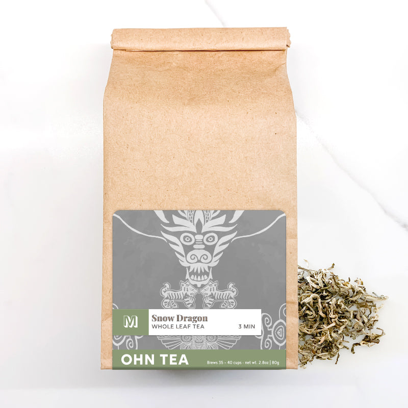 Ohn Market Snow Dragon tea 2.8oz makes 35-40 cups of tea