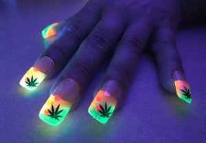 Glow In The Dark Nail Art/Decoration (In Neon Colors; 12 Individual Coloured Powders)