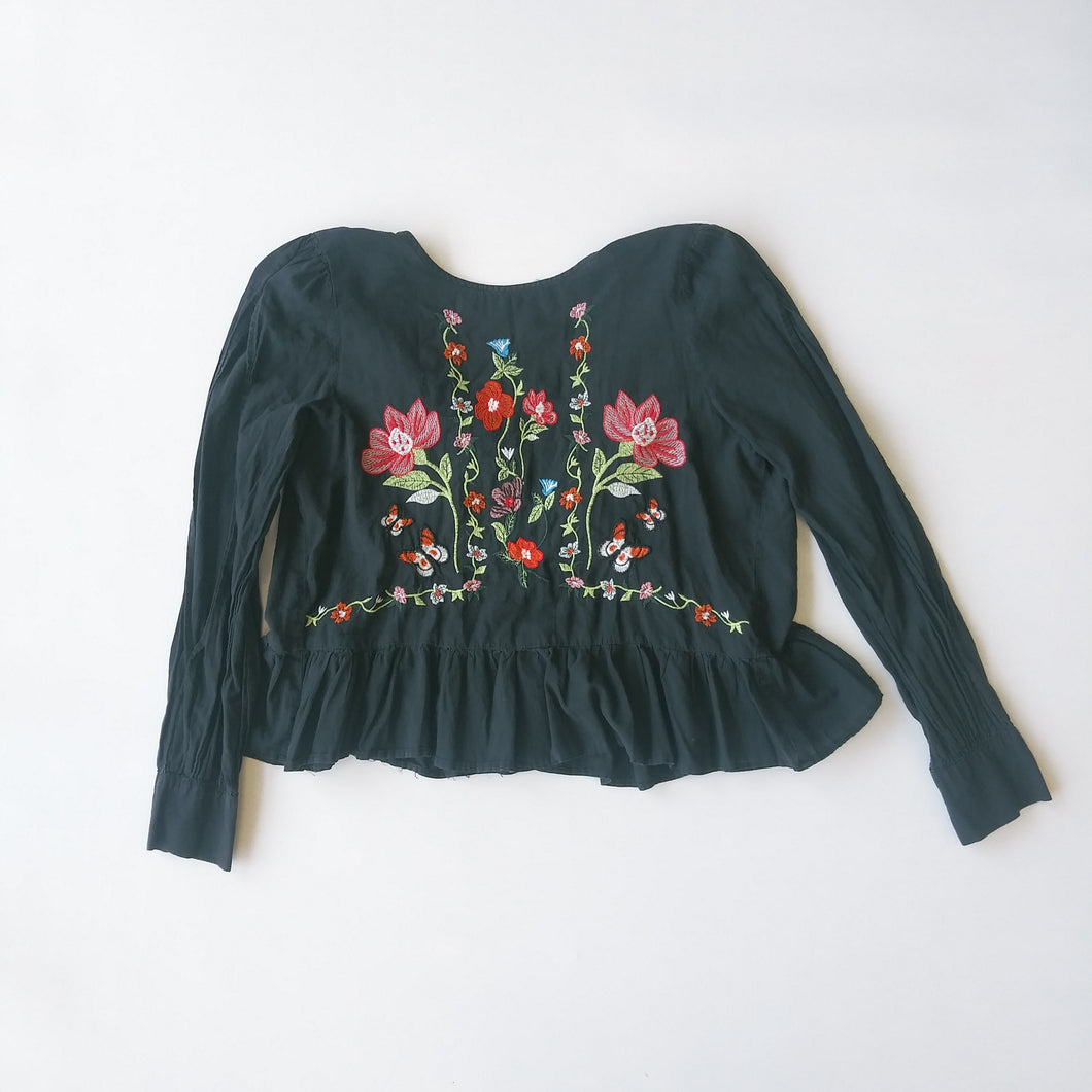Floral Womens Long Sleeve Top Small