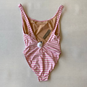 Swimsuit/Pink White Stripes