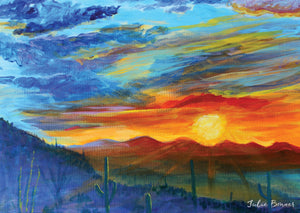 Desert Sunsets Assorted Greeting Cards