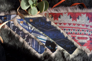 YOSHIDA Winter Bandana - Navy Blue
