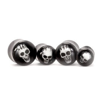Double Flared Plug With 3D Skull Design