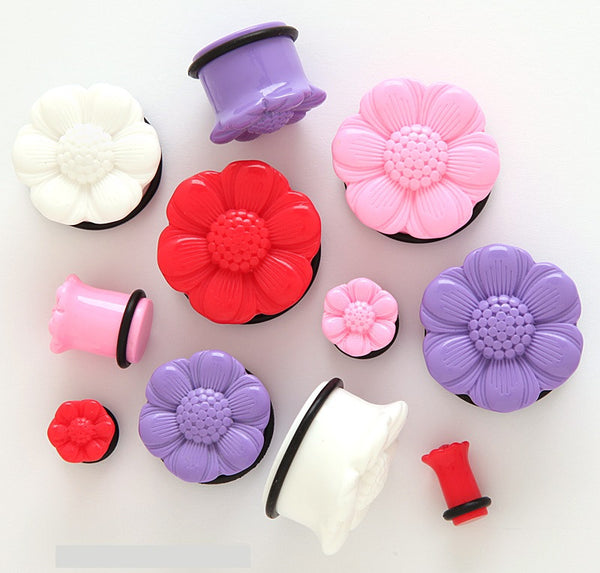 Acrylic 3D Flower Plugs