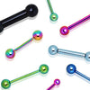 Anodized Industrial Barbells With Balls - BodyJewelrySource