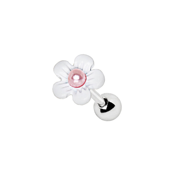 316L Stainless Steel Cartilage Earring With Pearled Daisy