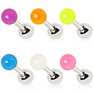 Cartilage Earring With Glow In the Dark Ball