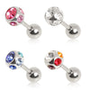 Cartilage Earring With Multi Gem Ball