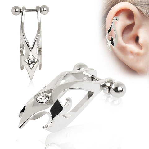 Cartilage Hawk Cuff Earring