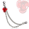 Cartilage Rose With Chained Earring