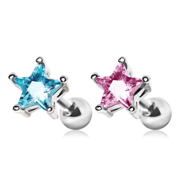 Star Stud CZ Cartilage Earring