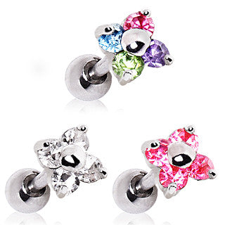 Cartilage CZ Flower Earring