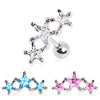 Cartilage Three Star Stud Earring